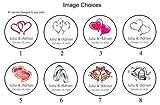 324 Personalized WEDDING Hershey Kiss Favor Labels, Wedding Sticker / Wrapper Favors.