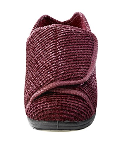 Slippers Burgundy Edema Extra Womens Adjustable Wide Diabetic Slippers Width Extra amp; PvSvqX