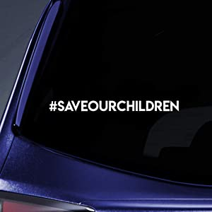 """Bargain Max Decals Save Our Children Hashtag Sticker Decal Notebook Car Laptop 5.5"""" (White)"""