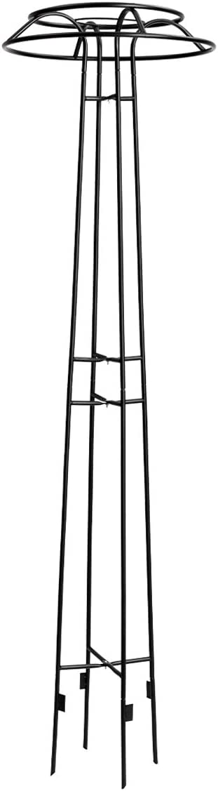 DOEWORKS Garden Trellis for Climbing Plants and Flowers, Metal Plant Trellis for Outdoor Use, Black