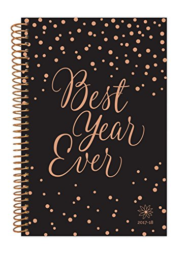 "bloom daily planners 2017-18 Academic Year Daily Planner - Passion/Goal Organizer - Monthly and Weekly Datebook and Calendar - August 2017 - July 2018 - 6"" x 8.25"" - Best Year Ever"