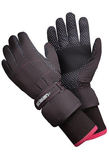 Heat Holders - Womens Extra Warm Waterproof Insulated Winter Thermal Ski Gloves (S/M, Ladies) (Gray Ski Glove)