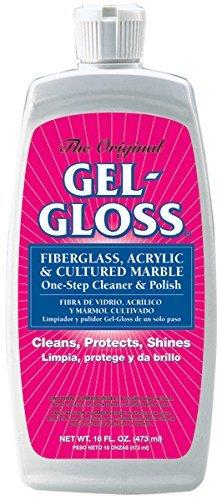 Gel-Gloss GG-16 Fiberglass Cleaner/Polish Bottle - 16 oz. (Quantity 4)