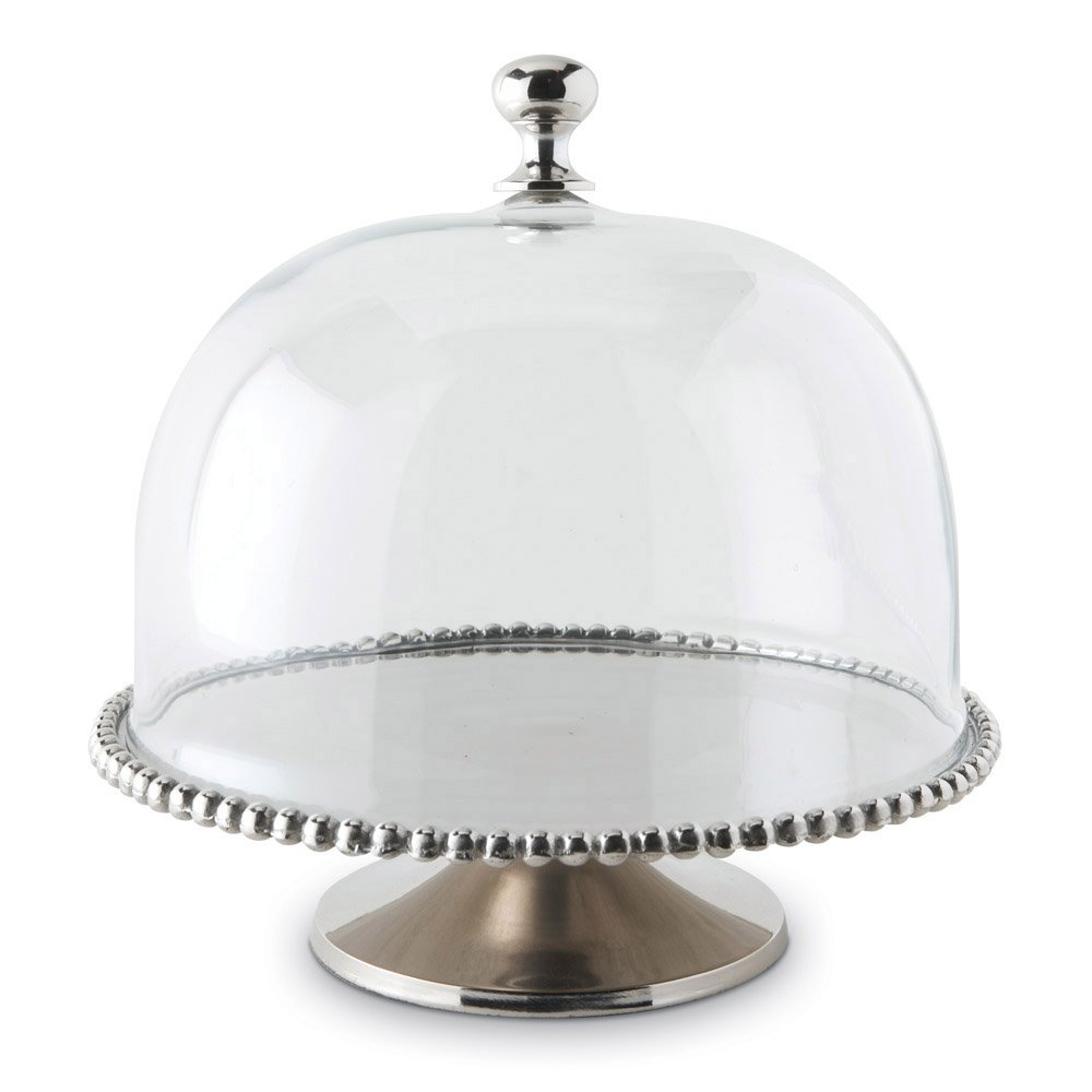 Exceptional Cake Stand With Dome Part - 13: Large Beaded Edge Cake Stand With Domed Lid: Amazon.co.uk: Kitchen U0026 Home