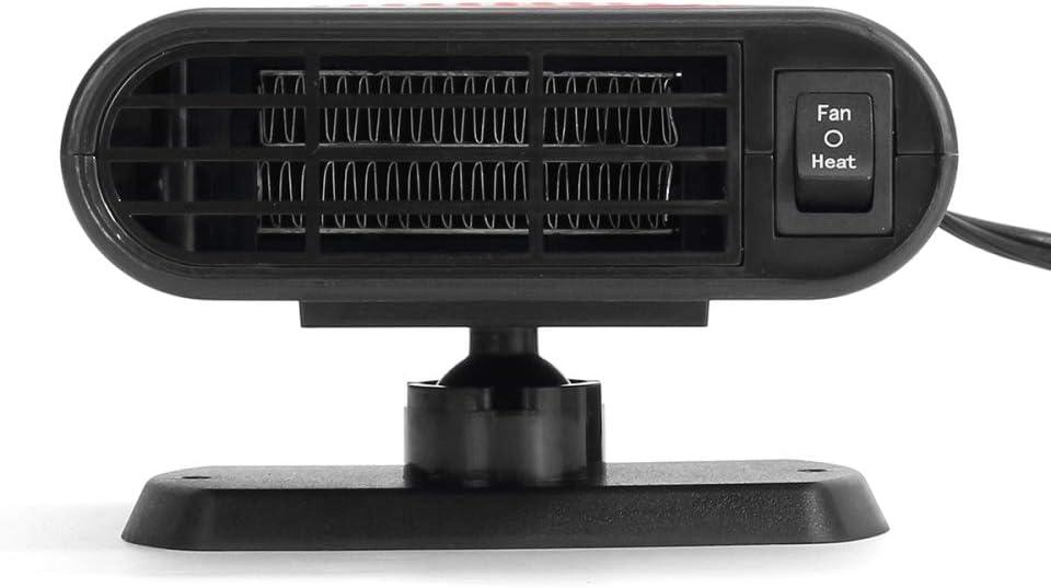 CZPF 200W 12V 24V Estacionamiento De Autom/óViles Calentador Calefacci/óN El/éCtrica Enfriamiento 2 En 1 Ventilador Secador De Autom/óViles Port/áTil Desempa/ñAdor De Parabrisas con Calefacci/óN,12V