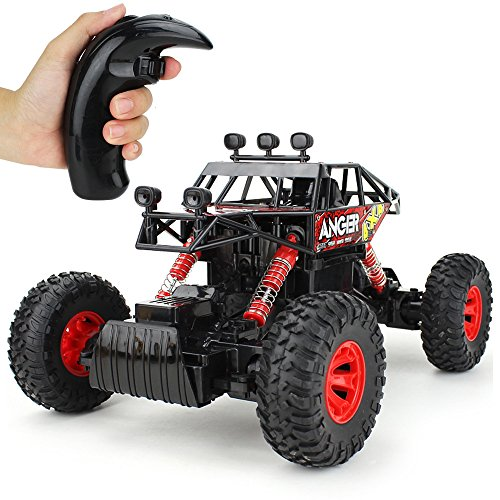 Jellydog Toy Off Road RC Car, Remote Control Climbing Vehicle, 4WD High Speed Rock Crawlers,1:14 Scale 2.4Ghz Racing Car, Buggy Hobby Toy for Boys