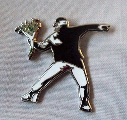 (Banksy Flower Thrower Enamel Pin Badge )