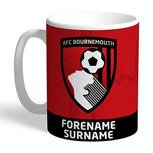 AFC Bournemouth Official Personalized Bold Crest Mug – FREE PERSONALISATION