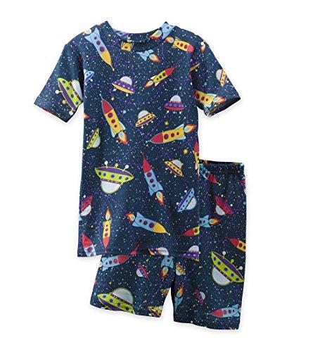 CWDKids Children's Cotton Short Pajamas - Space, Size 4