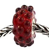 Authentic Trollbeads Glass 61341 Red Berries