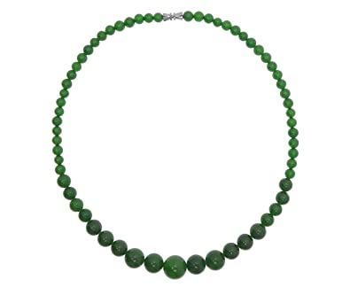 Vifaleno Collier de jade, naturel, vert, rond, 6-14mm  Amazon.fr  Bijoux 581ebb78547f
