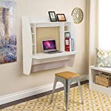 WBhome Floating Desk with Storage Wall Mounted White