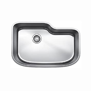 Blanco 441588 One Undermount Single Bowl Kitchen Sink, X Large, Stainless  Steel