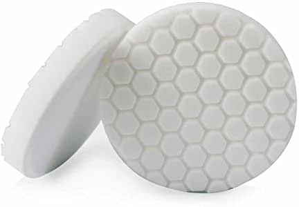 Chemical Guys BUFX_104_HEX6 Hex-Logic Light-Medium Polishing Pad, White (6.5 Inch Pad Made for 6 Inch Backing Plates)