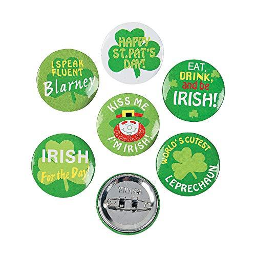 (Mini Shamrock Buttons - St. Patrick's Day & Novelty Jewelry,48)