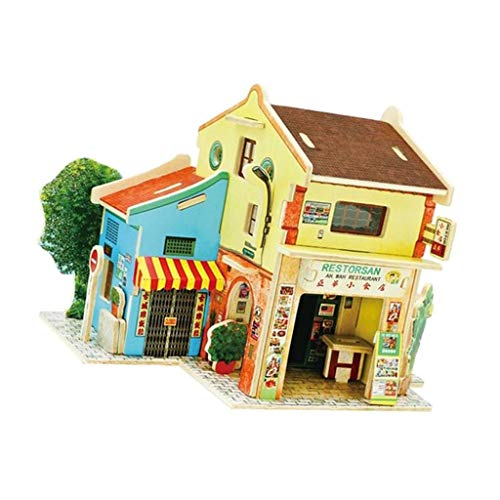 Brosco 3D Jigsaw DIY Miniature Wooden Room Dollhouse Kit Funiture 1:24 Scale #6