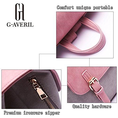 G-AVERIL - Bolso mochila  para mujer Rosa rosa gris