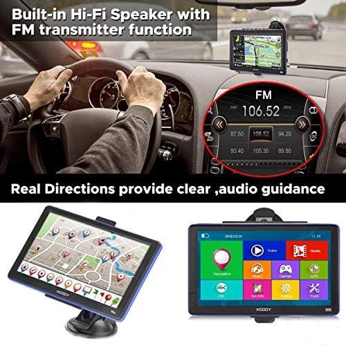 GPS Syst/ème de Navigation GPS Xgody 886 Bluetooth 7 /écran Tactile 8 Go ROM 256 Mo RAM Voiture Camion Satellite Navigator avec pare-soleil support /étape par /étape directions