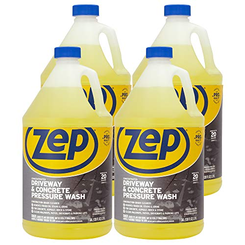 Zep Driveway and Concrete Pressure Wash Cleaner Concentrate 128 Ounce ZUBMC128 (Case of 4) (Best Pressure Cleaner For Driveways)