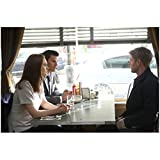 Bones (TV Series 2005 - ) 8 inch x 10 inch Photo Emily Deschanel & David Boreanaz Seated in Booth Opposite Michael Grant Terry kn