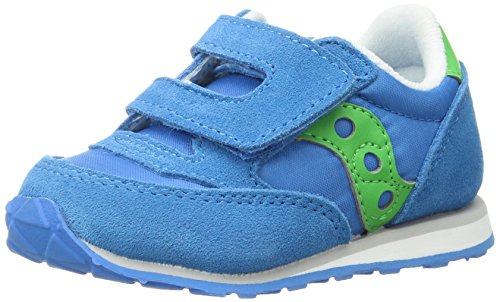 Price comparison product image Saucony Boys' Baby Jazz HL Sneaker, Blue/Green, 8.5 Medium US Toddler