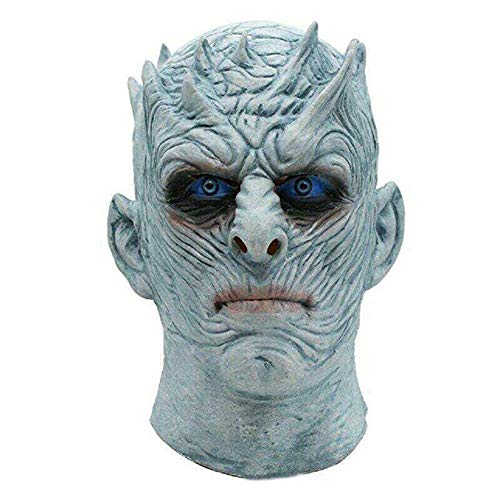 (NECHARI Halloween Mask Night's King Walker Face Night Re Zombie Latex Mask Cosplay Throne Costume Party)