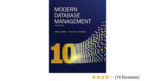 Amazon. Com: modern database management. (9780135094877): jeffrey a.