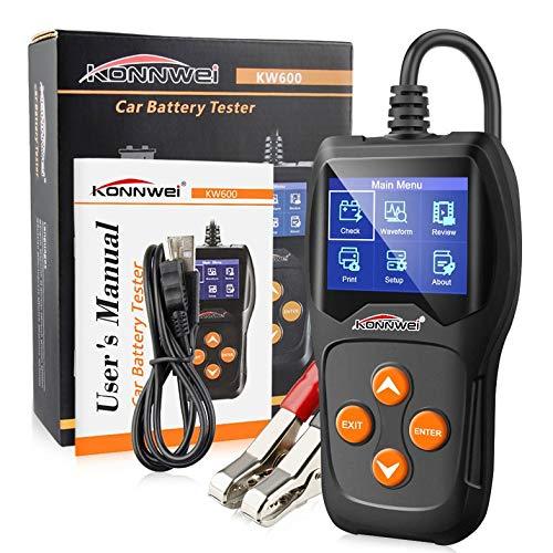 Cloverclover Kw600 D/étecteur de Batterie de Voiture 12 V