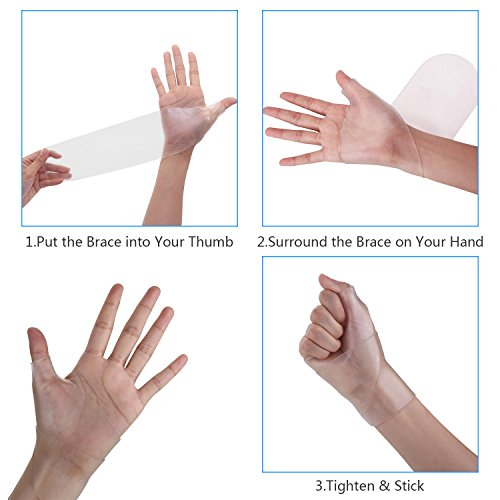 Wrist Brace Carpal Tunnel Gel Wrist Thumb Support Braces Stretchable Washable Thumb Wrist Support Glove for Tenosynovitis, Typing, Wrist Thumb Pain, Arthritis, Rheumatism (1 Pair) by Healthy Harbor (Image #3)