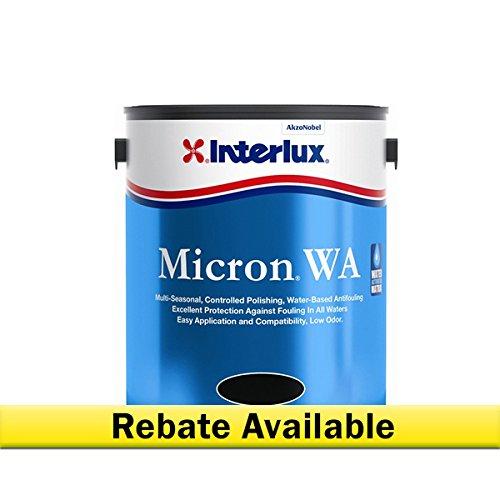 Interlux Y6102/QT Micron WA Antifouling Paint (Red), 128. Fluid_Ounces