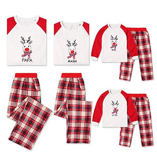 695f299506 Matching Family Pjs Christmas Entire Family Jammies Cotton Pajamas Sets  Best Kids Sleepwear Xmas A12