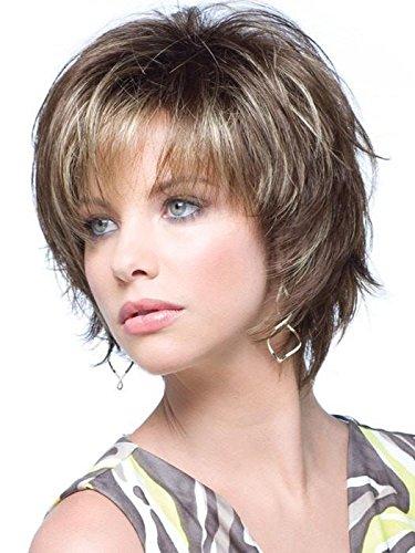 Mocha Marble Top - Sky Avg Cap Wig Color Marble Brown - Noriko Wigs Short 5
