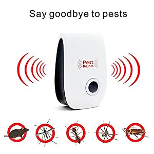 Pest Repeller Mouse Repeller,Ultrasonic Plug in Pest Control,Repellent for Mice, Rat, Bug , Bedbug, Spider, Roach, Ant, Fly, Flea, Moth, Non-toxic Eco-friendly,Humans / Pets Safe(1 pc)