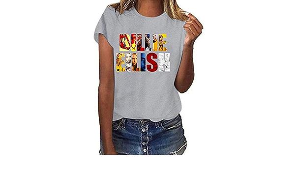 Camisetas de Manga Corta Estampadas de Primavera y Verano ...