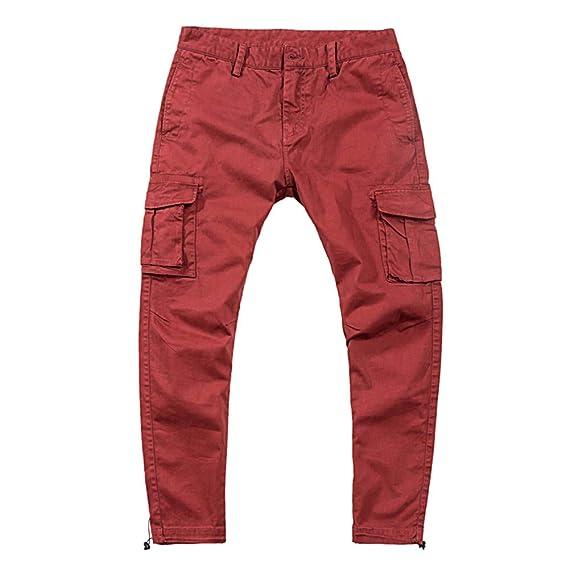 OHQ Pantalon D Outillage à Pieds Pour Avec Plusieurs Poches Lavé Les  Loisirs De Plein Air Hommes Noir Jaune Mode Homme Crayon Salopette  D ExtéRieur ... 94634dba1f7