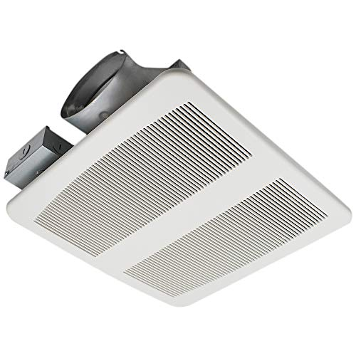 Fan Bathroom Profile Low - ESD Tech Slim Bathroom Exhaust Fan - Ultra Quiet 1.2 Sones, 80 CFM, White Grill, 4-Inch Duct, Shallow, Energy Star, ETL Listed