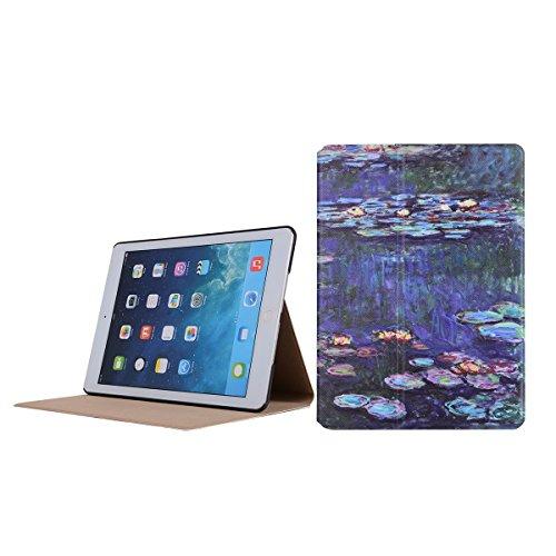 inShang 9.7 inch iPad (2017) Fundas soporte y carcasa para Apple 9.7 inch iPad (2017) ( , smart cover PU Funda ,art style + clase alta 2 in 1 inShang marca negocio Stylus pluma Pond moonlight