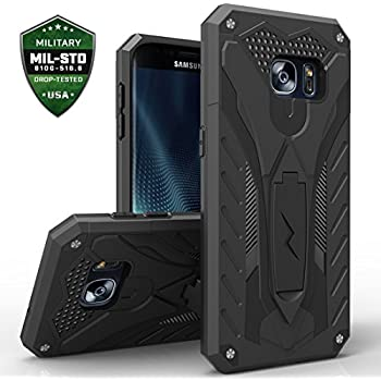 Samsung Galaxy S7 Edge Case, Zizo [Static Series] Shockproof [Military Grade Drop Tested] with Kickstand [S7 Edge Heavy Duty Case] Impact Resistant
