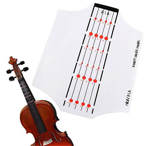 Aileen Violin Fingerboard Sticker Fret Guide Label Position Indicator for 4/4 3/4 1/2 1/4 1/8 Size (4/4)