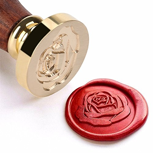 The Rose Wax Seal Stamp with Rose wood Handle