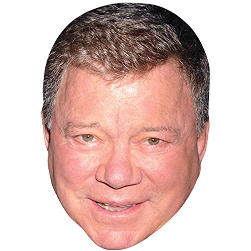 William Shatner Celebrity Mask, Card Face and Fancy Dress Mask]()