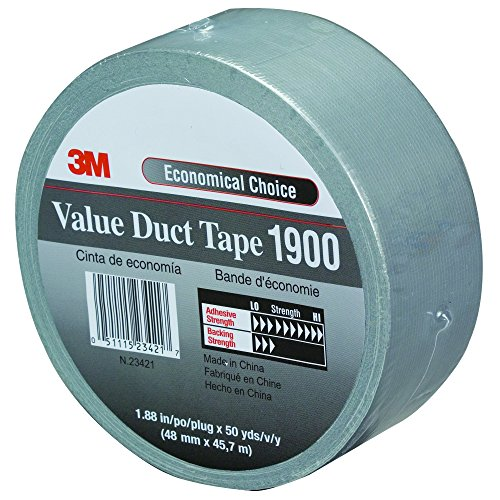 (Partners Brand PT98719003PK Silver 3M 1900 Duct Tape, 50 yd. Length, 2