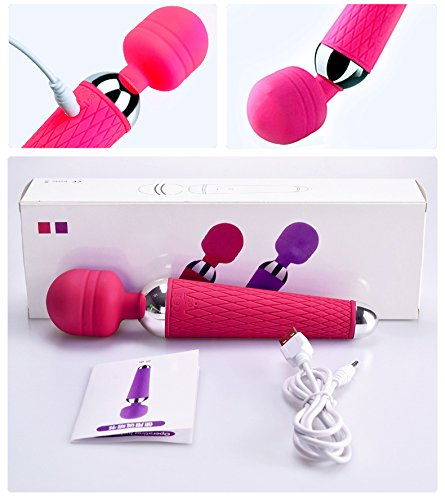 RcoPco-MI073 Wand Viberate Toys for Women,Waterproof with 10 Powerful Multi Speed Strong Vibration Patterns - Perfect for Muscle Aches and Personal Sports Recovery - USB - Mini by RcoPco-MI073