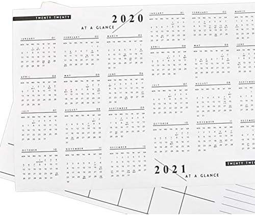 KEIBODETRDEinfacher Monatsplan für 2020 A3 Planungsplan Kalendernotiz für das Home Office
