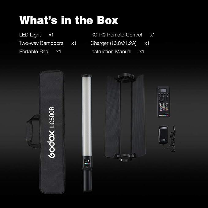 Godox Lc500r Rgb Led Lichtstab 360 Vollfarbdimmung Kamera