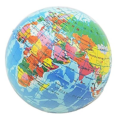 Novelty Giant Earth Globe Squeeze Toy Stress Ball: Toys & Games