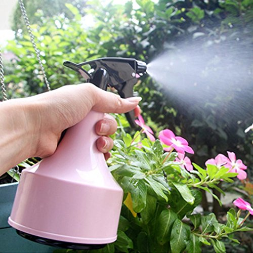 LtrottedJ Empty Spray Bottle ,Plastic Watering The Flowers Water Spray For Salon Plants (Pink)