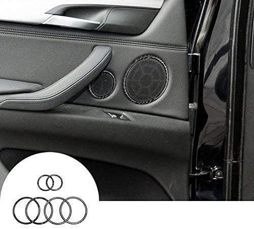 カーボンファイバー内側車のドアスピーカーカバートリム6pcs for x5?X 6?F15?F16?2014???2018 Autozone