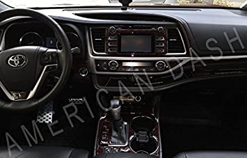 TOYOTA HIGHLANDER INTERIOR WOOD DASH TRIM KIT SET 2017 2018 2019
