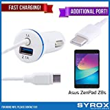 Syrox 20-Pack Type-C Car Charger & Port, Reversible 4 ft Fast Charging for Asus ZenPad Z8s, Samsung Galaxy Note 8, S8 Plus, LG V30, V20, G6, G5, Google Pixel, 6P, Nintendo Switch and All